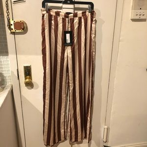 NWT Pretty Little Thing stripped pants